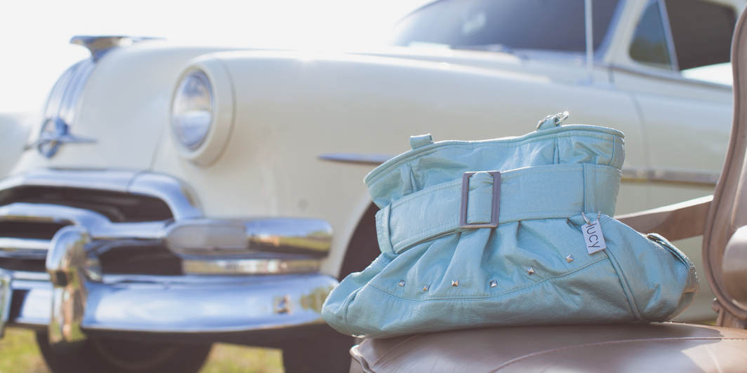 Lucy Handcrafted Pale Blue Purse